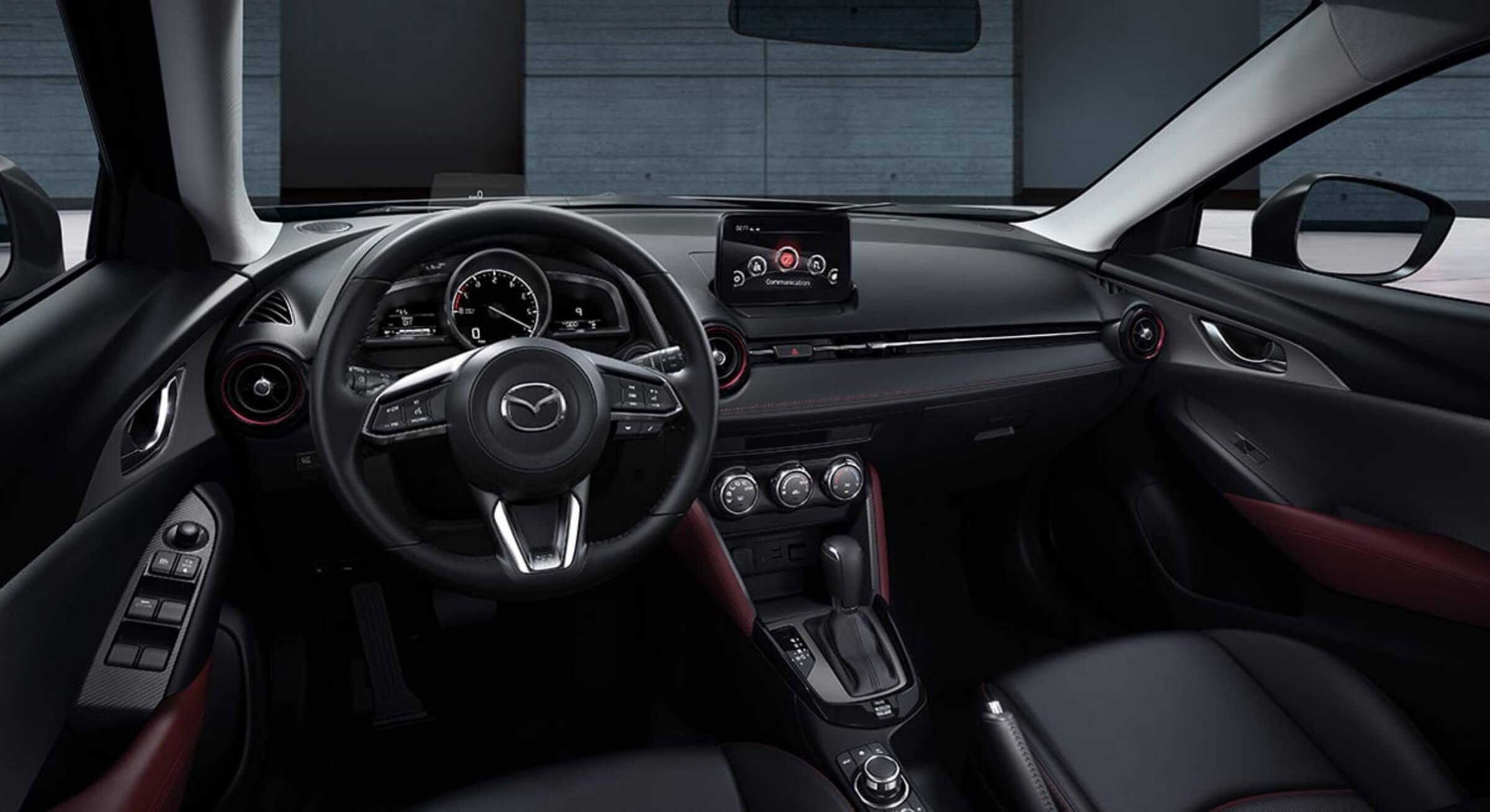 Black Leatherette Mazda Cx3 Interior Foto 3