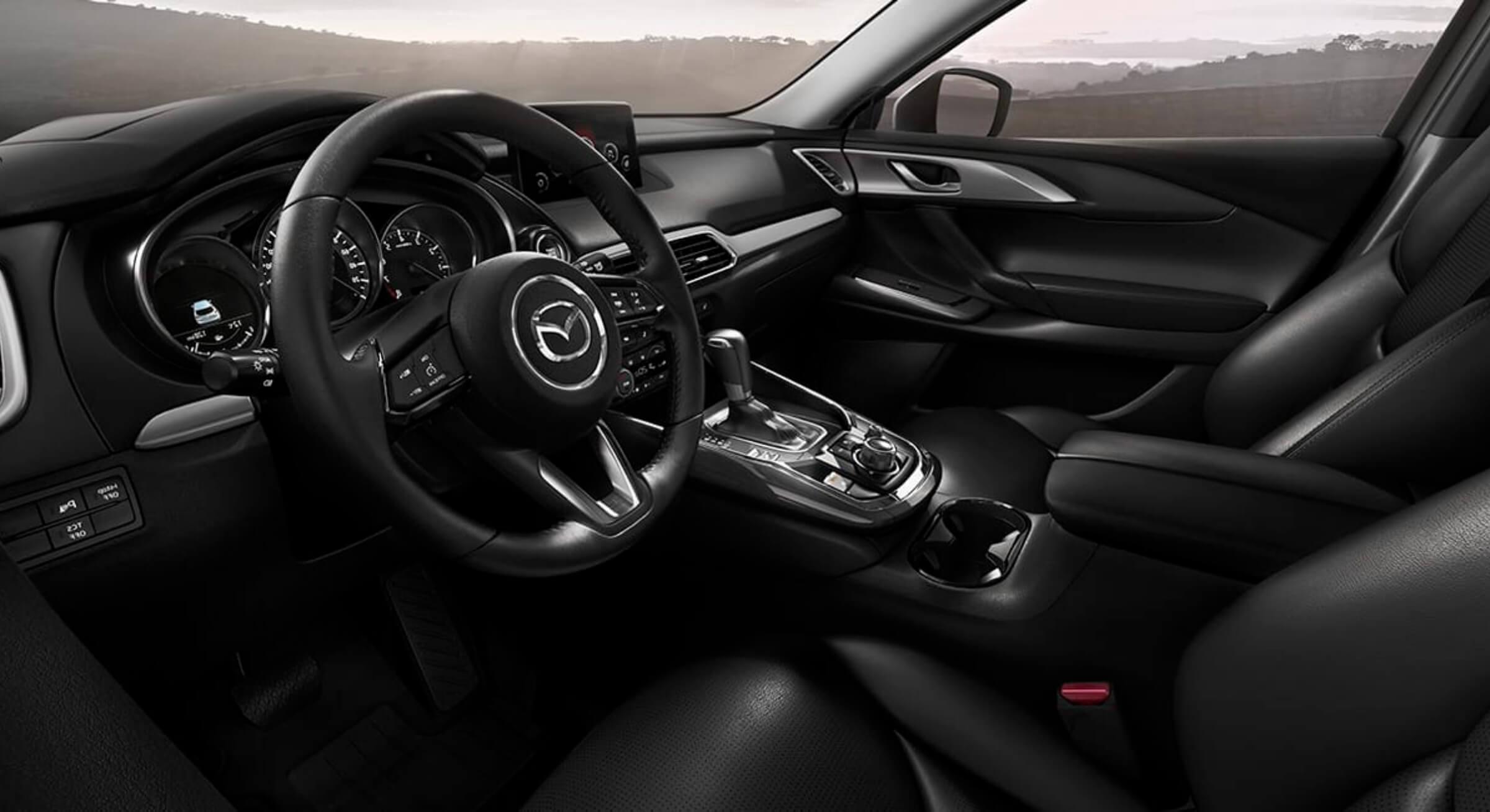 Black Leatherette Mazda Cx9 Interior Foto 2