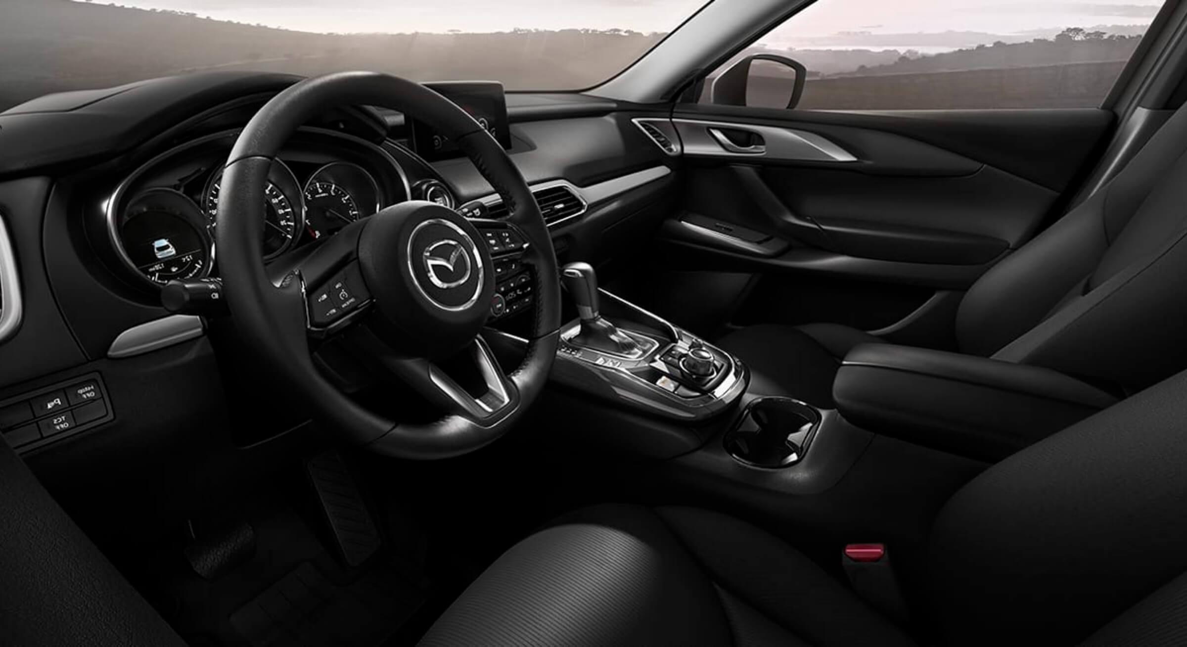 Black Cloth Mazda Cx9 Interior Foto 1